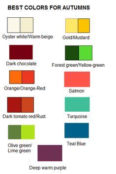 best colors for autumns
