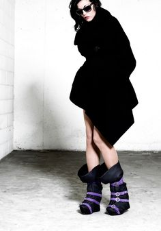 """Fall/Winter_13.14 Collection.  Calf leather boot with a sandal inside """"WRAP!WRAP!"""" by Tomas Trenchard"""