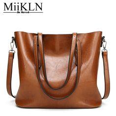 c8bf07f65452 MiiKLN Women Handbags 8 Colors PU Soft Leather Solid Ladies Shoulder Bags  For Woman 2017 Tote · Luxury HandbagsFashion ...