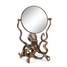 San Pacific International Octopus Vanity Mirror, As Shown Octopus Bathroom, Mermaid Bathroom, Mirror Bathroom, Ocean Bathroom, Bathroom Vanities, Makeup Vanities, Ocean Room, Mermaid Cat, Bathroom Plans
