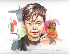 WATERCOLOR PORTRAIT OF A BOY