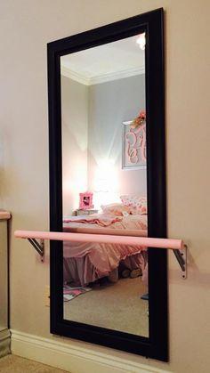 DIY ballet bar Dance Bedroom, Ballerina Bedroom, Dance Rooms, Room Ideas Bedroom, Girls Bedroom, Bedroom Decor, Bedrooms, My New Room, My Room