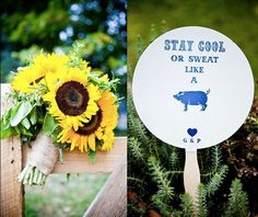 Great idea for our BBQ wedding