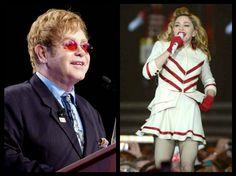 """Continua la guerra tra Elton John e Madonna: """"il suo ultimo tour è stato un disastro.. sembra una spogliarellista da luna park"""""""