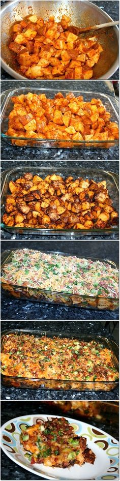 Exclusive Foods: Loaded Potato And Buffalo Chicken Casserole