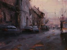 The Urban Flow by Tibor Nagy Oil ~ 12 x 16