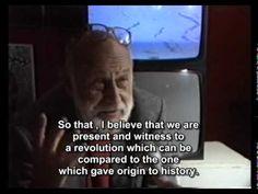 Vilém Flusser - 1988 interview about technical revolution (intellectual level is lowering) (via Jarbas Jácome)