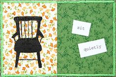 """Fabric postcard by Viv, from last years #diypostcardswap. Zen proverb """"Sitting quietly, doing nothing, spring comes and the grass grows by itself"""""""