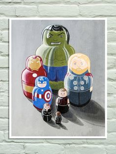 Avengers poster Hulk Ironman Thor Cap America by SteGentileNerdArt, $18.00