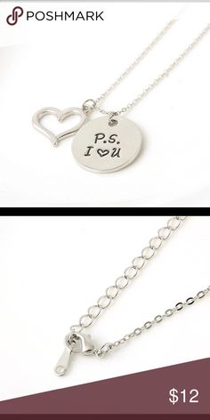 Ps I love you necklace Ps I love you silver plated charm necklace Jewelry Necklaces