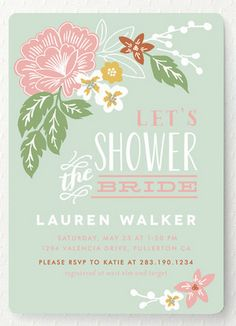 Beautiful bridal shower invite.