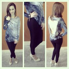 'Bird Vine' Tie-Dye Open-Back Top with Studded Leggings ~ Apricot Lane Boutique South Florida