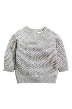 Moss-stitch jumper