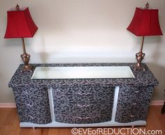 Revamp a buffet with Mod Podge
