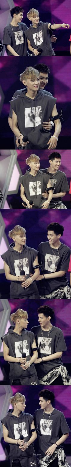 Taoris - On the last pics it looks like Tao wants to kiss Kris~ c: