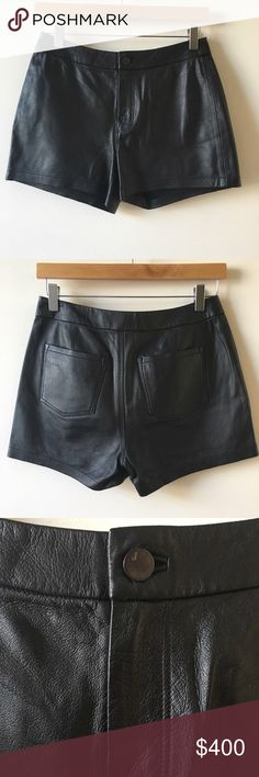 Final Price J Brand Black Leather Mila Shorts J Brand Mila leather black shorts size 25. Size XS/S #designer open to offers J Brand Shorts