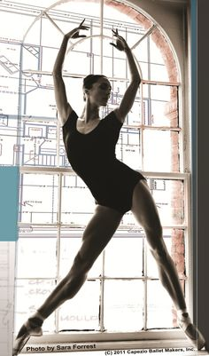 so look at her muscles and tell me again how ballet isn't a lot of work...oh that's right, you can't
