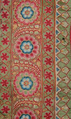 Mochi work embroidered Pichhvai from Gujarat, Cent, 228 cm by 188 cm. Motifs Textiles, Vintage Textiles, Textile Prints, Textile Patterns, Textile Design, Textile Art, Fabric Design, Print Patterns, Pattern Design