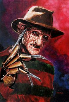 Chris Kuchta is an accomplished horror artist, freelance illustrator and art instructor. Explore Chris' gallery of horror paintings and buy his horror movie art in his online shop! Scary Movies, Horror Movies, Horror Decor, Horror Artwork, Dark Artwork, Horror Icons, Nightmare On Elm Street, Deviantart, Art Gallery