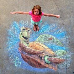 Finding Nemo Chalk Drawing: Source: Instagram user capn_awesome77