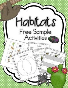 Included in this freebie are a habitat information page, compare and contrast sheets, and an animal sorting activity.  This sample is focused on the rainforest and desert.  Please visit our store to see our full habitat units (ocean, forests, rainforest, desert, arctic animals, and much more)!Follow us by clicking the link at the top of the page to receive notice when we add new freebies and products to our store.