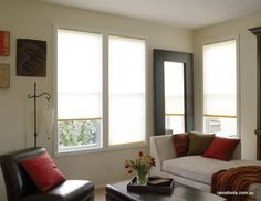 Santa Fe Shutters now has ThermaCell Insulating blinds which are a pleated fabric blind that are available in a wide range of colours and cell sizes. Blinds Chalet, Shutter Blinds, Interior, Home, Blackout Curtains, Insulated Blinds, Honeycomb, Honeycomb Blinds, Blinds