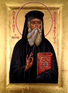 Icons and Echoes: Saint Nektarios Orthodox Christianity, Orthodox Icons, Christian Art, Jesus Christ, Saints, Byzantine, Fresco, Catholic Art