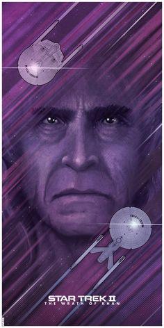Part of my Trek poster series. Star Trek II: The Wrath Of Khan Star Trek Ii, Star Wars, Star Trek Ships, Original Six, Star Trek Original Series, Star Trek Into Darkness, Affiche Star Trek, Vaisseau Star Trek, Science Fiction