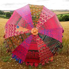 Indian Parasol - Embroidered Indian Parasol #indianparasol #parasol #indianumbrella #indiangardenparasol #indiansummer #rajasthan #kasakosa