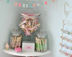 Jars of ribbons | Flickr - Photo Sharing! Love the look!