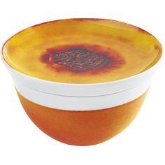 Update Freche Früchtchen Milchkaffeeschale 0,50 l + Deckel 14 cm touch! Pfirsich, KAHLA Porzellan