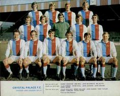 Crystal Palace team group in 1971-72.