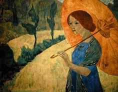 """Madame Serusier with a parasol"" by Paul Serusier"