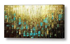 Giclee PRINT on Canvas Large Abstract Art Landscape Blue Brown Green White Gold Modern Home Decor Wall Art Ready to Hang by Susanna by ModernHouseArt on Etsy Large Abstract Wall Art, Abstract Landscape, Brown Wall Decor, Wall Art Prints, Canvas Prints, Interior Design Minimalist, Mid Century Modern Art, Home Decor Wall Art, Mosaic Art