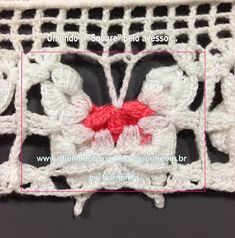 OFICINA DO BARRADO: Croche - Borboletando - PAP que não mostrei ... Crochet Butterfly Pattern, Crochet Edging Patterns, Stitch Patterns, Filet Crochet, Crochet Necklace, Projects To Try, Crafty, Blanket, Pictures