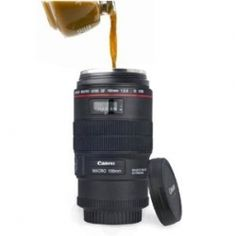 Checkout these cool Camera Lens Coffee Mugs,  They look so real!