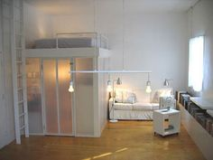 loft bunk bed with closet