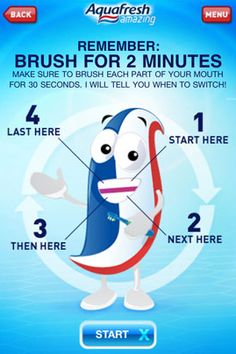 How long does it take to brush your #teeth? Motivate your children to brush thoroughly with a number of fun apps!