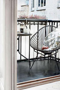 stylish balcony in Copenhagen #danish interior