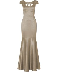 """""""A luxurious full length dress that is elegantly tailored for a structured glamourous look. Boning in the bodice and a dramatic fishtail shaped hem combine to produce a show-stopping silhouette. The intricate back detail adds an extra touch of sophistication with a sparkling diamante buckle clasp.""""    From http://www.phase-eight.co.uk/fcp/product/phase-eight/bridesmaid/Tia-Fishtail-Full-Length-Dress/202015060"""