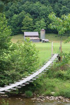 swing bridge west virginia   Swinging Bridge in Tucker Co. WV--EWVAIH