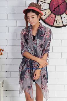 Cheap scarf drapery, Buy Quality scarf dress directly from China scarf linen Suppliers: min order $5   summer pashmina women's scarf  long shawl printed cape silk chiffon tippet muffler echarpes Scarves PG-00