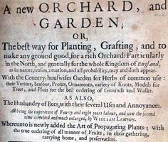William Lawson A New Orchard and Garden (1618) title page