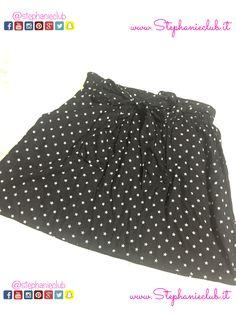 minigonna nera con stelline #Primark