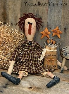 free images to make primitive dolls | 146 raggedy rae ann doll pattern this is a threadbare primitives ...