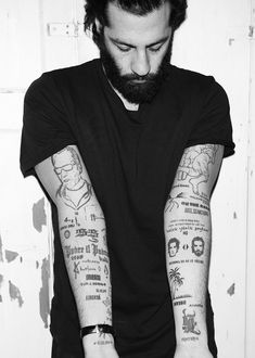 Arms. Sleeves. Tattoo. Black & White. Clean. Clutter. Modern.