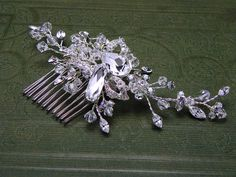 Wedding Accessories Crystal Hair Comb Swarovski by OWDJewelry, $130.00