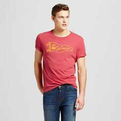 Men's San Francisco Local Pride Pennant Tee Xxl - Red (Juniors')