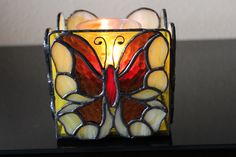 Stained Glass Votive Candle Box Holder, Home Decor, Housewarming Gift, Handmade, Lead-free, Gift for Mom - pinned by pin4etsy.com