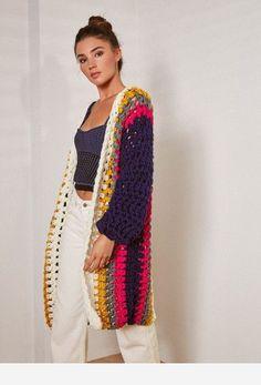 Fabulous Crochet a Little Black Crochet Dress Ideas. Georgeous Crochet a Little Black Crochet Dress Ideas. Black Crochet Dress, Crochet Coat, Crochet Jacket, Crochet Cardigan, Crochet Shawl, Easy Crochet, Crochet Clothes, Mode Crochet, Crochet Fashion